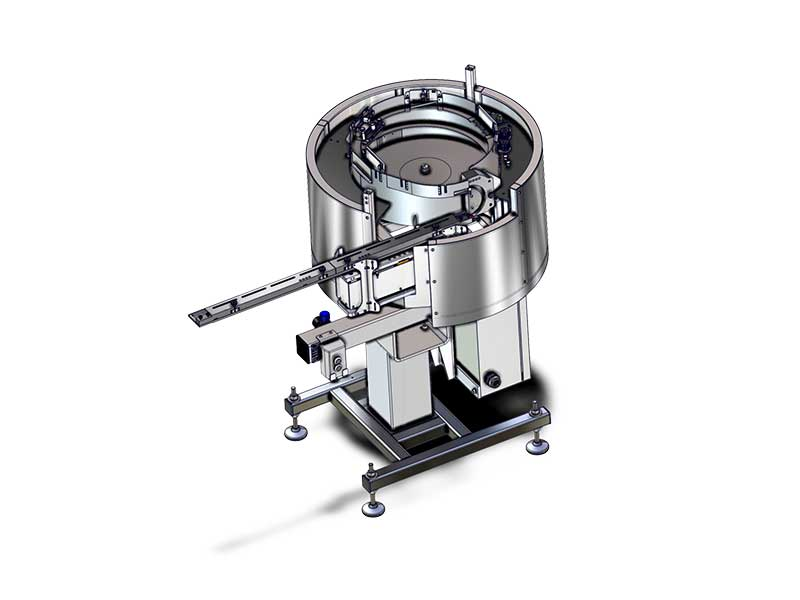 Cap sorting bowl for liquid cosmetics up to 120 units per minute