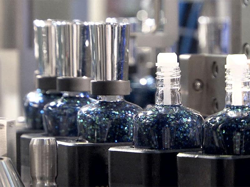 PKB EKO nail varnish: filling/capping machine up to 50 bpm