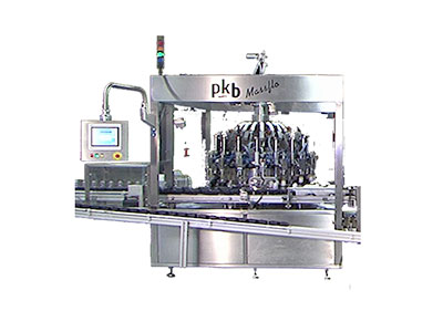 PKB MASSFLO COSMETICS : filling/capping machine up to 200/400 bpm