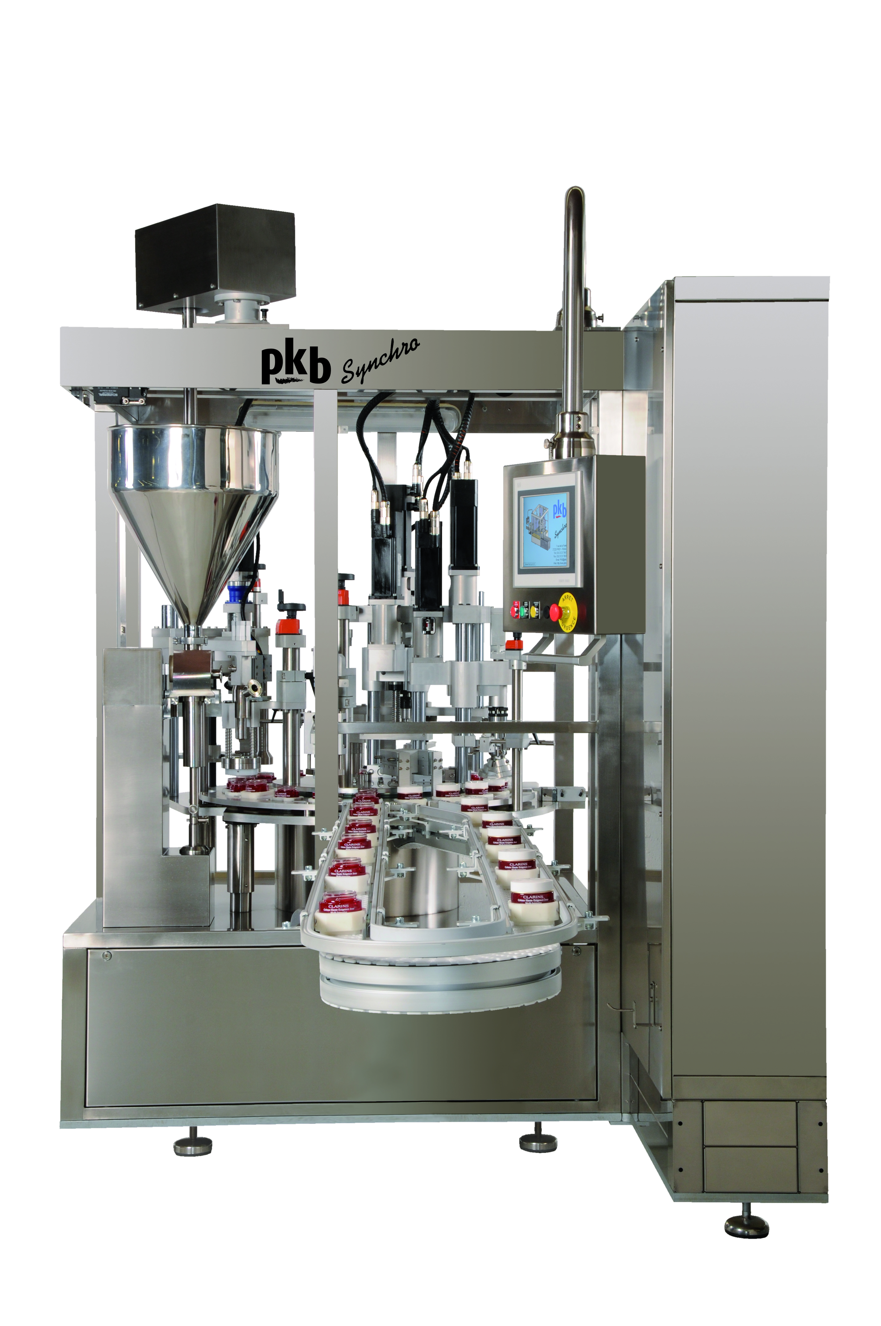 PKB SYNCHRO JARS: filling / capping machine up to 60 jars per minute