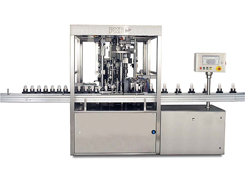 PKB ROBO Nail Varnish: filling/capping machine up to 50 bpm
